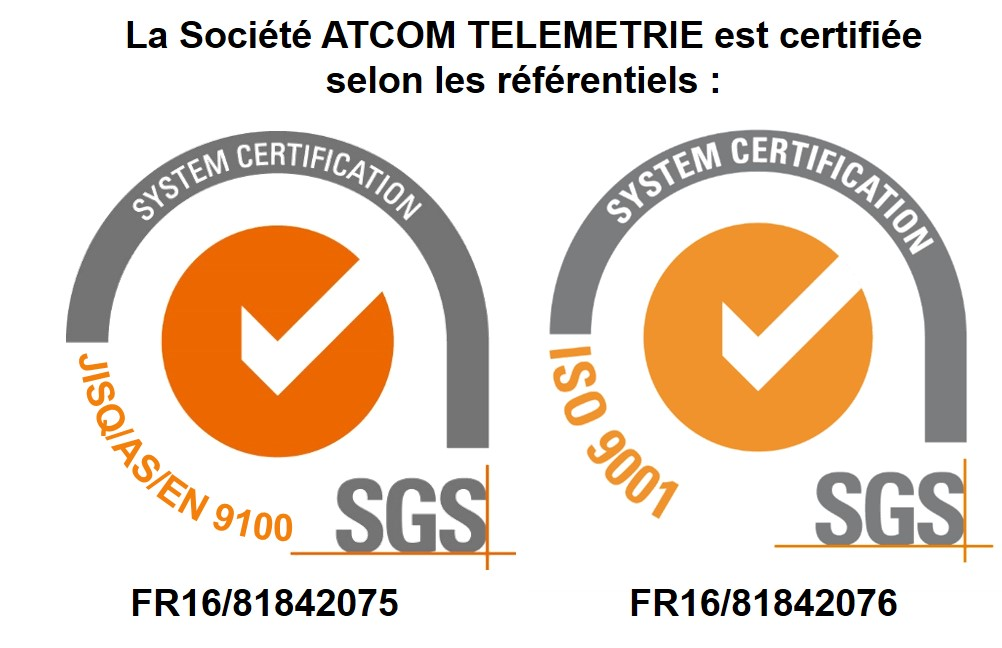 Certification AS/EN 9100 | Atcom Télémétrie